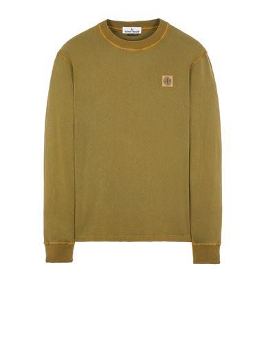 STONE ISLAND 21857 'FISSATO' TREATMENT Long sleeve t-shirt Man Olive Green USD 147