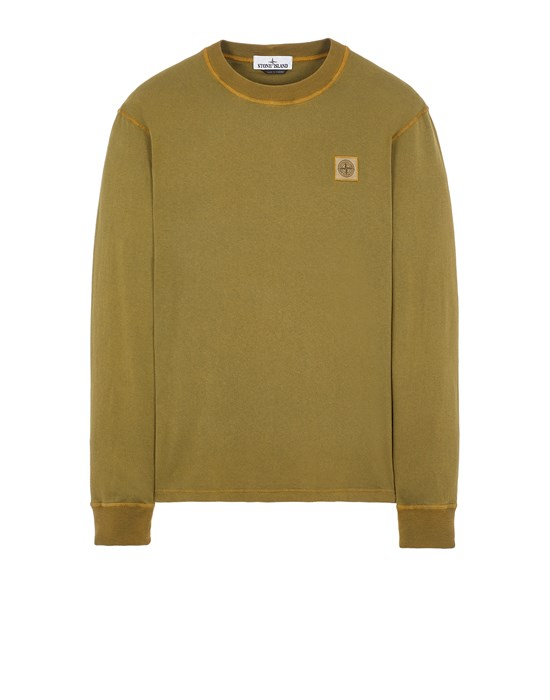 STONE ISLAND 21857 'FISSATO' TREATMENT Long sleeve t-shirt Man Olive Green