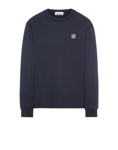 STONE ISLAND 21857 'FISSATO' TREATMENT Long sleeve t-shirt Man Blue EUR 139