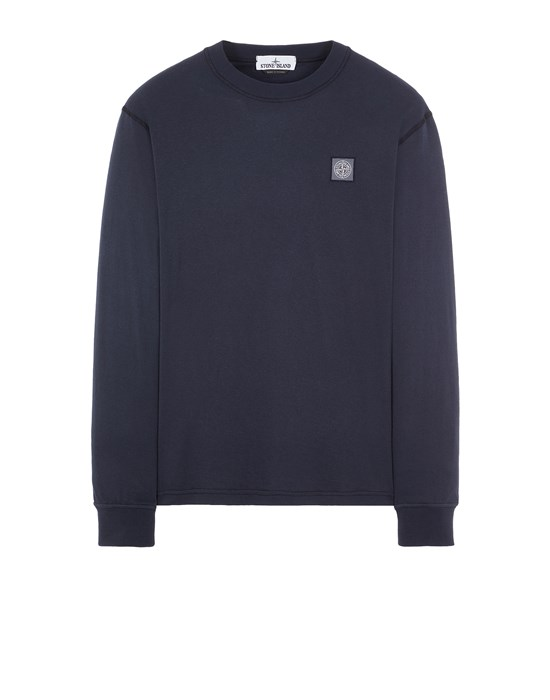 STONE ISLAND 21857 'FISSATO' TREATMENT Long sleeve t-shirt Man Blue