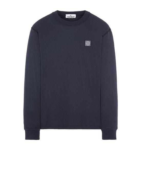 STONE ISLAND 21857 'FISSATO' TREATMENT Langärmliges Shirt Herr Blau
