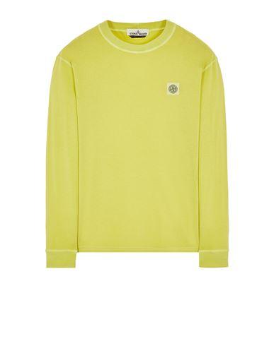 STONE ISLAND 21857 'FISSATO' TREATMENT 长袖 T 恤 男士 开心果色 EUR 153