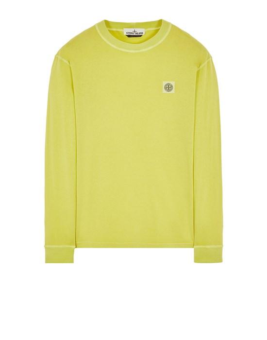 STONE ISLAND 21857 'FISSATO' TREATMENT Long sleeve t-shirt Man Pistachio Green