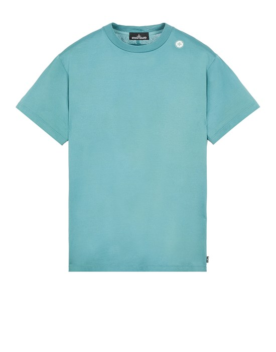 STONE ISLAND SHADOW PROJECT 20105 MERCERIZED JERSEY, GARMENT DYED_CHAPTER 1 & CHAPTER 2 Short sleeve t-shirt Man Emerald Green