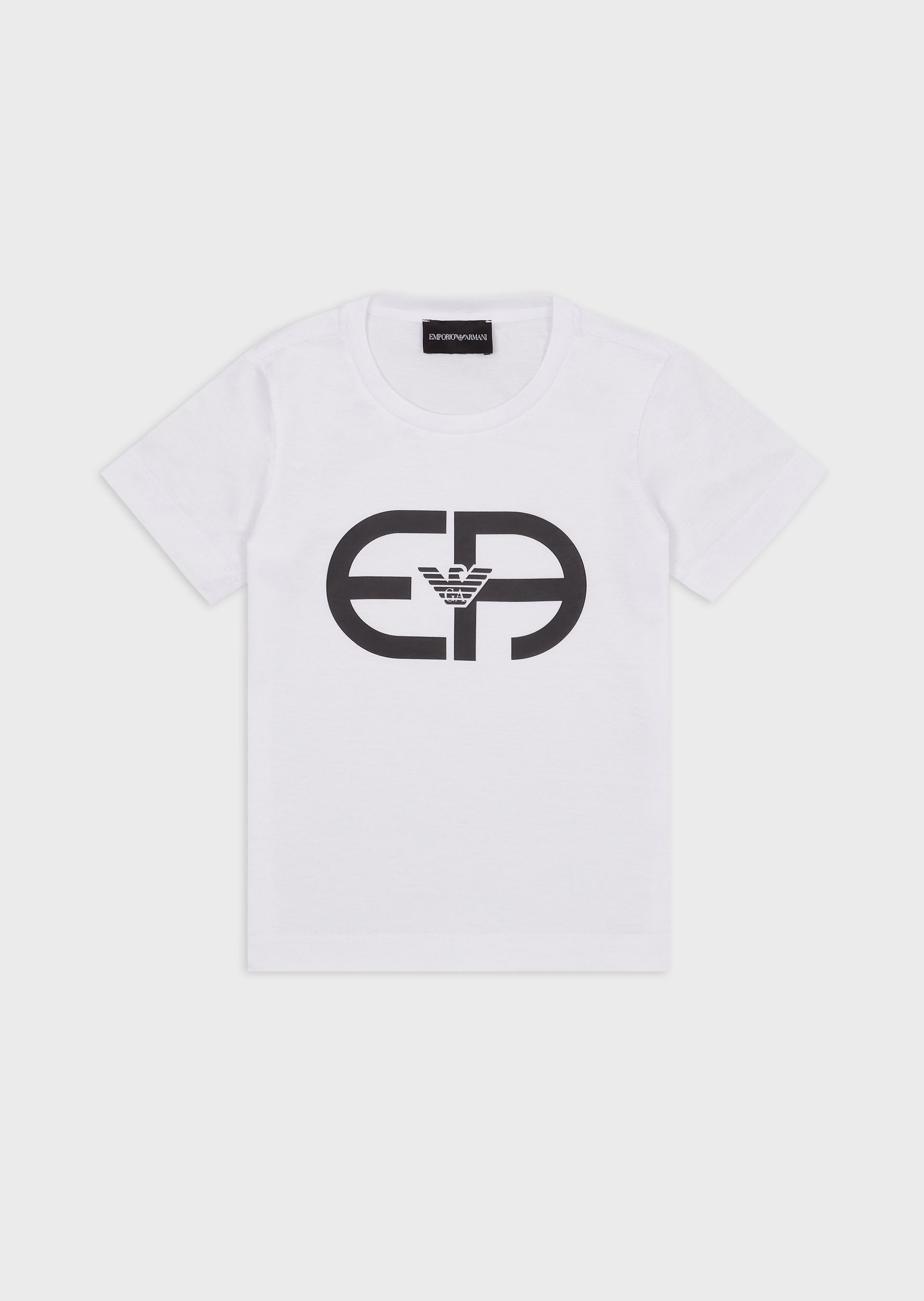 EMPORIO ARMANI Jersey T-shirt with R-EAcreate logo