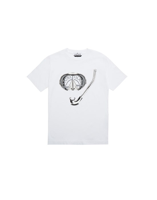 STONE ISLAND JUNIOR 21056 'SCUBA ESSENTIALS TWO' Short sleeve t-shirt Man White