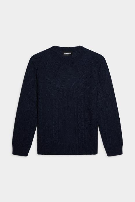DSQUARED2 Kids Pullover Bleu foncé Taille 12 50% Acrylique 30% Laine 20% Alpaga