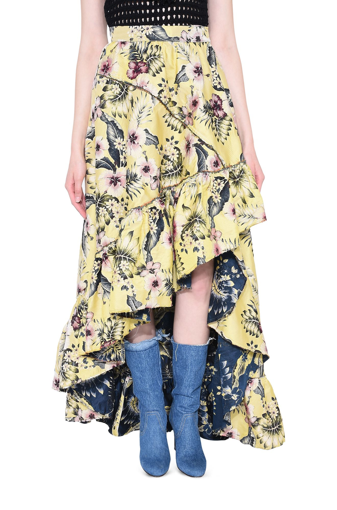 PHILOSOPHY di LORENZO SERAFINI GONNA D HIBISCUS JUNGLE SKIRT r