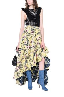 PHILOSOPHY di LORENZO SERAFINI HIBISCUS JUNGLE SKIRT GONNA D a