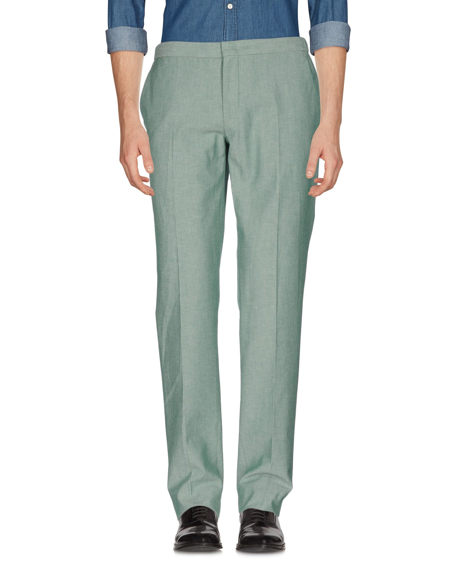 《セール開催中》INCOTEX メンズ パンツ グリーン 48 コットン 100%