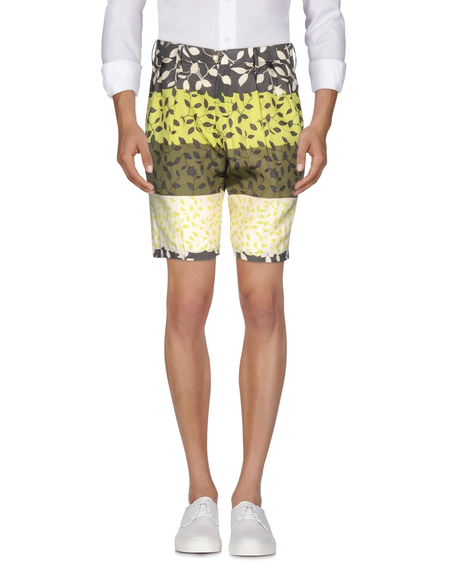PATCHY CAKE EATER Bermudas in Green