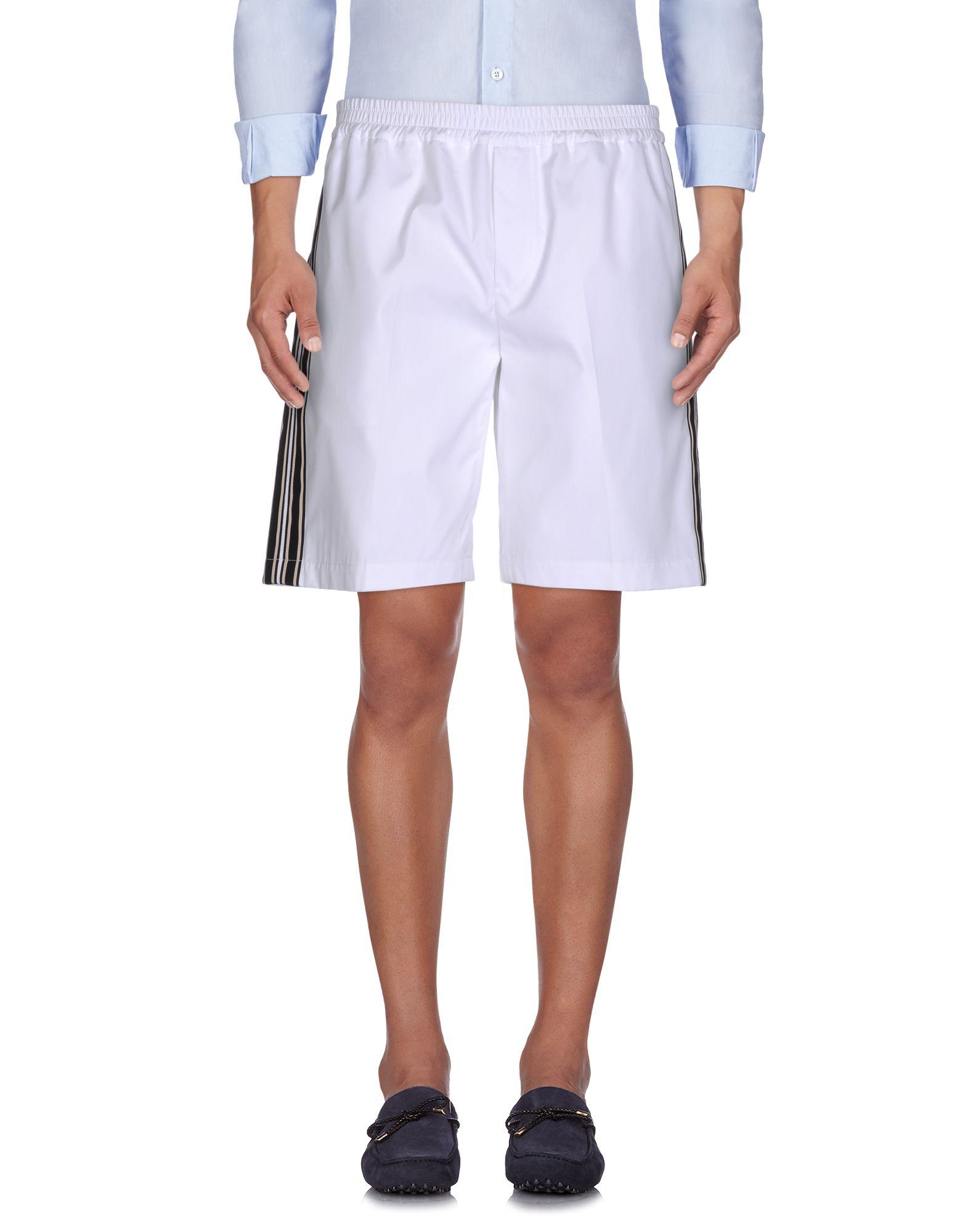 《送料無料》N°21 メンズ バミューダパンツ ホワイト 46 100% コットン