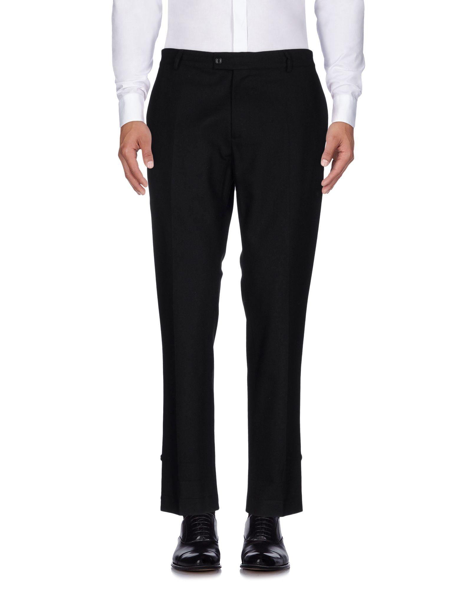 《セール開催中》DANIELE ALESSANDRINI メンズ パンツ ブラック 52 ポリエステル 32% / ウール 32% / アクリル 20% / レーヨン 16%