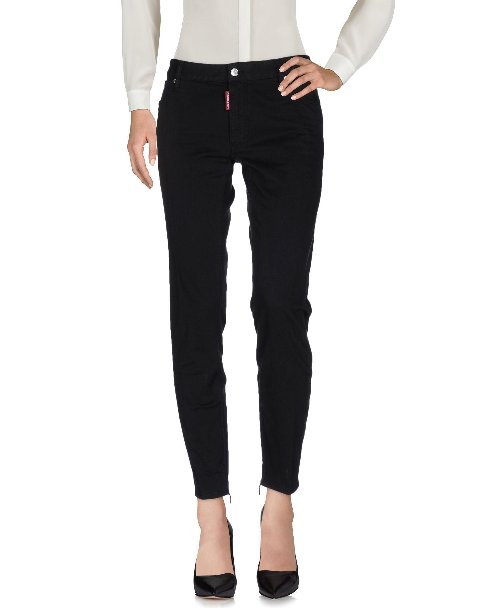 DSQUARED2 Damen Hose Farbe Schwarz Größe 6