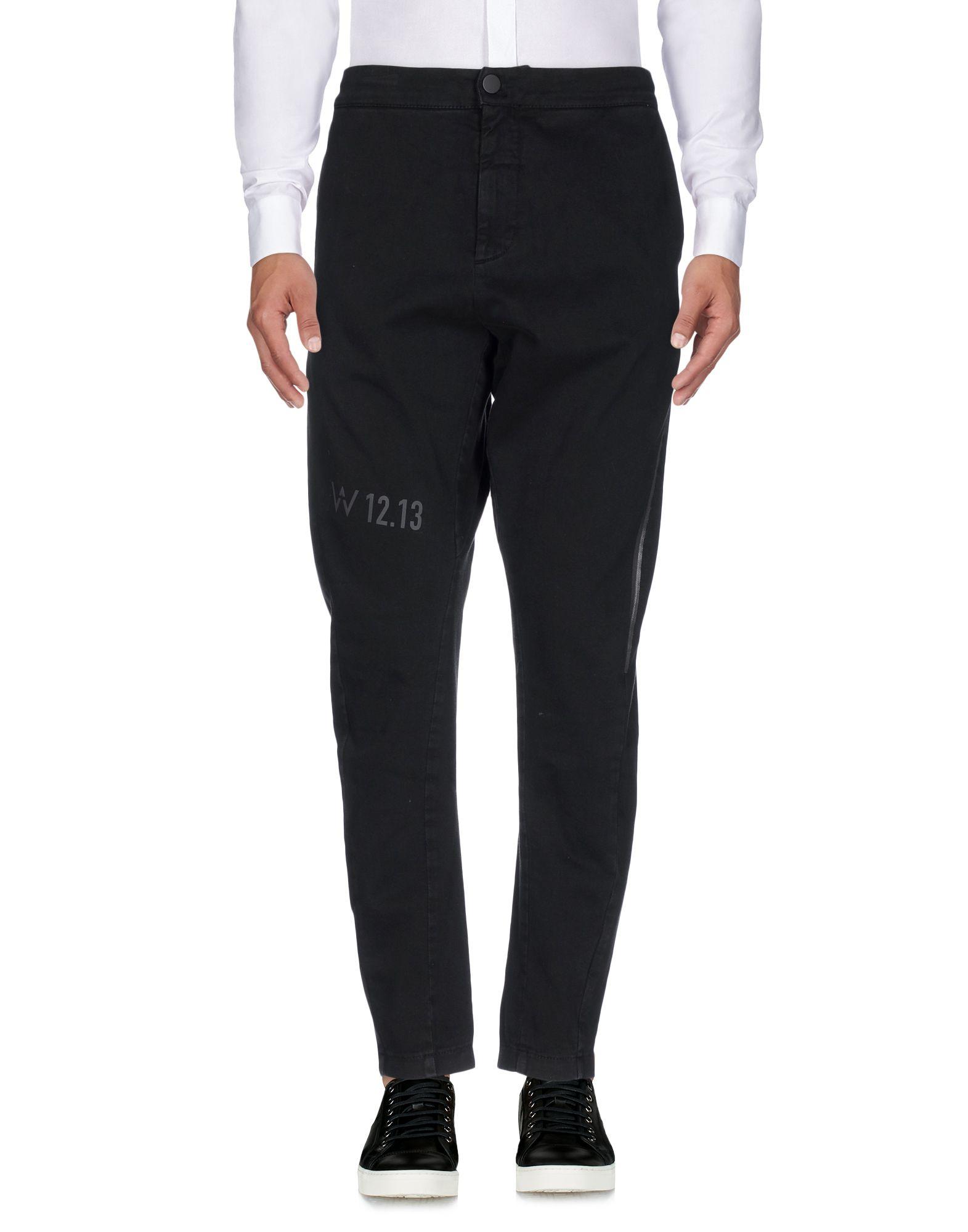 DE WALLEN Casual Pants in Black