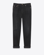 SAINT LAURENT Baggy D Baggy Jean in Deep Dark Black Denim f