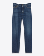 SAINT LAURENT Baggy D Baggy-Jeans aus blauem Denim f