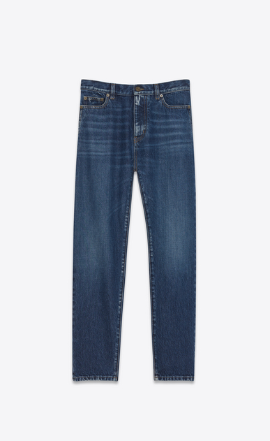 SAINT LAURENT Baggy D Baggy Jean in Deep Dark Blue Denim a_V4
