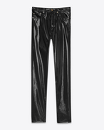 SAINT LAURENT Slim fit D Jeans slim boyfriend a vita media neri in vinile f
