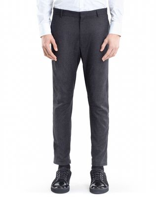 WOOL AND CASHMERE BIKER PANTS