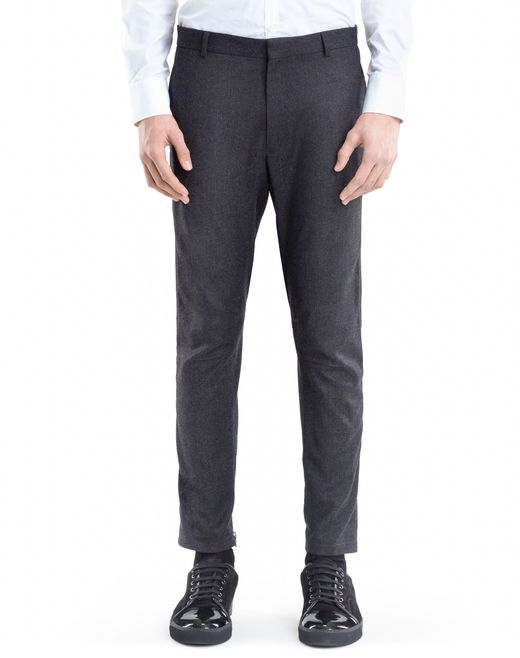 lanvin wool and cashmere biker pants men