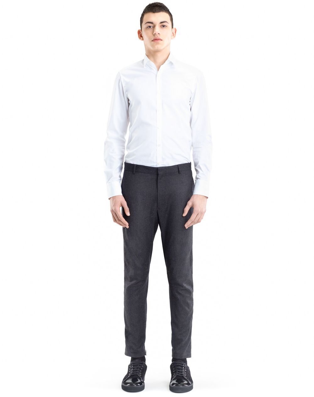 WOOL AND CASHMERE BIKER TROUSERS - Lanvin
