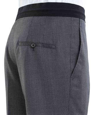 LANVIN SLIM-FIT PANTS WITH GROSGRAIN BELT Pants U b