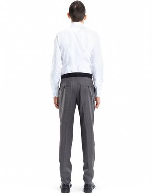 LANVIN SLIM-FIT PANTS WITH GROSGRAIN BELT Pants U d