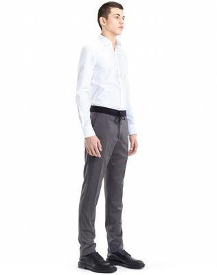 LANVIN SLIM-FIT PANTS WITH GROSGRAIN BELT Pants U e