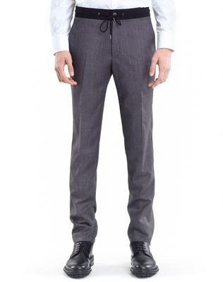 LANVIN SLIM-FIT PANTS WITH GROSGRAIN BELT Pants U f