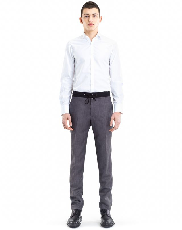 LANVIN SLIM-FIT PANTS WITH GROSGRAIN BELT Pants U r