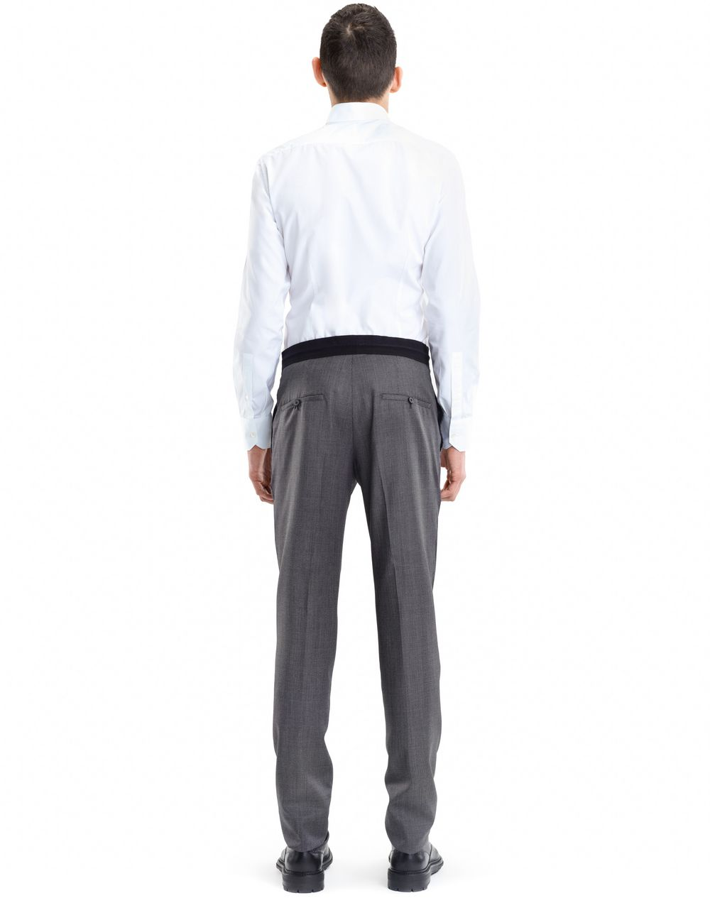 SLIM-FIT PANTS WITH GROSGRAIN BELT - Lanvin