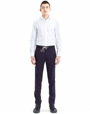 SLIM-FIT PANTS WITH GROSGRAIN BELT