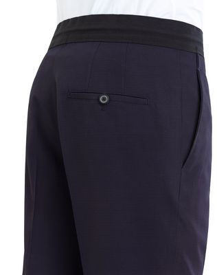 LANVIN SLIM-FIT PANTS WITH GROSGRAIN BELT Pants U b
