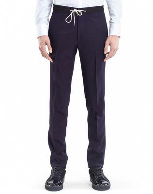 LANVIN SLIM-FIT PANTS WITH GROSGRAIN BELT Pants U f