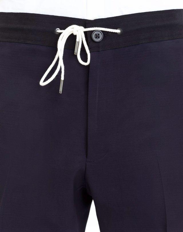 LANVIN SLIM-FIT PANTS WITH GROSGRAIN BELT Pants U a