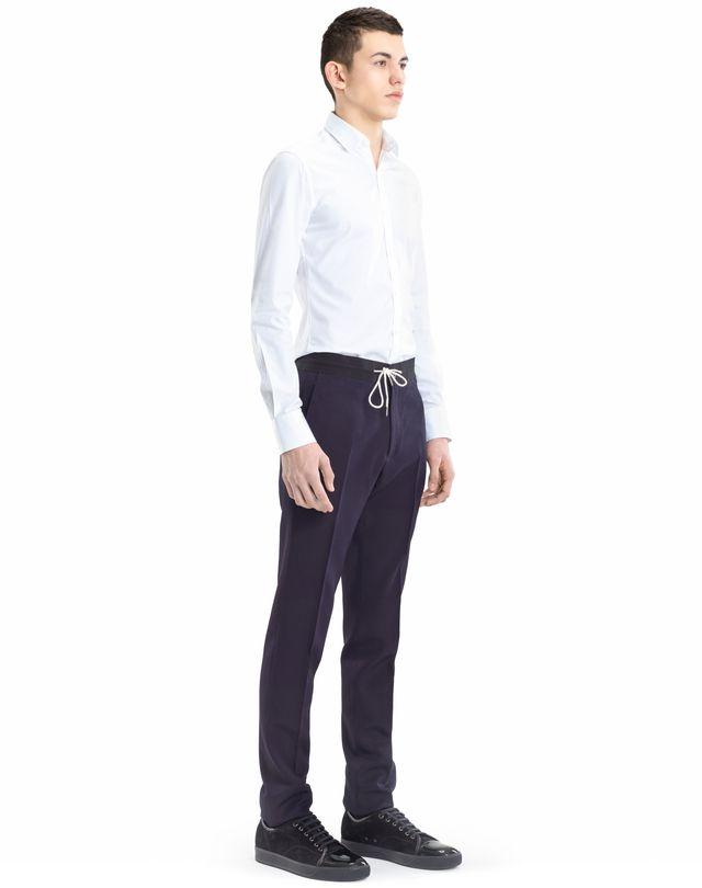 LANVIN SLIM-FIT PANTS WITH GROSGRAIN BELT Pants U e