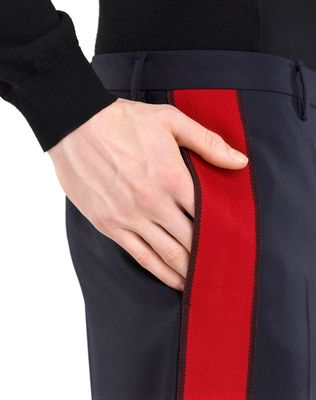 LANVIN STRAIGHT-LEG PANTS WITH RED TRIM Pants U a