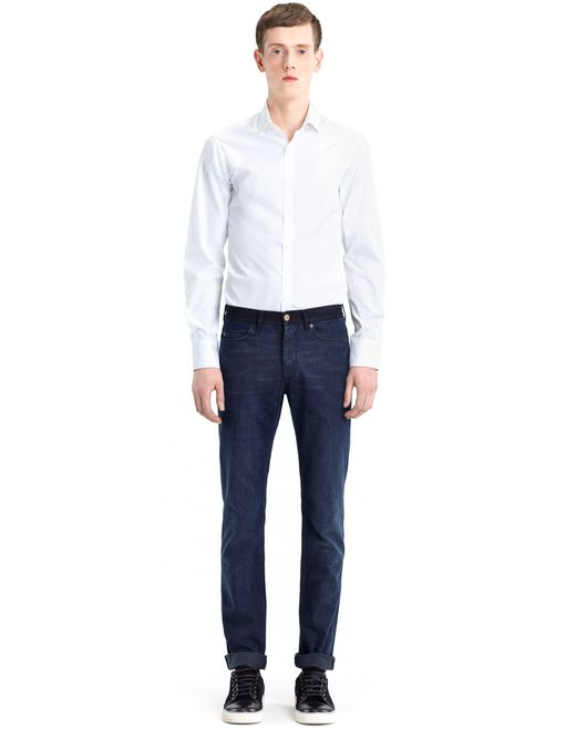 lanvin five-pocket skinny jeans men