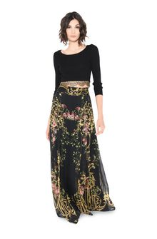 ALBERTA FERRETTI PALACE BLACK SKIRT SKIRT Woman f