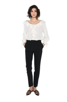 ALBERTA FERRETTI PERFECT BASIC PANTS PANTS Woman f