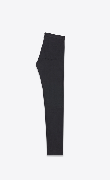SAINT LAURENT Slim fit Homme Jean slim en denim stretch noir effet usé b_V4