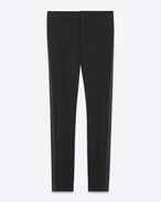 SAINT LAURENT Classic Pant U Iconic LE SMOKING Trouser in Black Grain de Poudre f