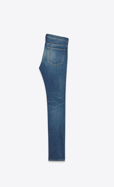 SAINT LAURENT Skinny fit U Low Waisted Skinny Jean in Dark Vintage Blue Denim b_V4
