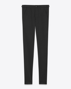 SAINT LAURENT Slim fit U Chino slim en gabardine de coton stretch noir brut f