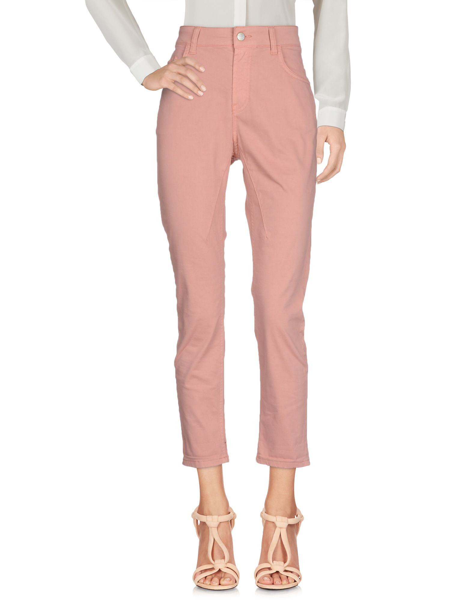 MANILA GRACE Casual Pants in Pastel Pink