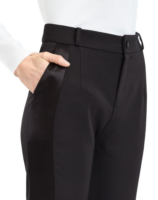 lanvin gabardine trousers women