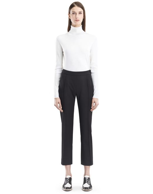 lanvin stretch gabardine trousers women