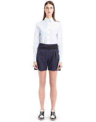 LANVIN Trousers D PINSTRIPE GABARDINE SHORTS F