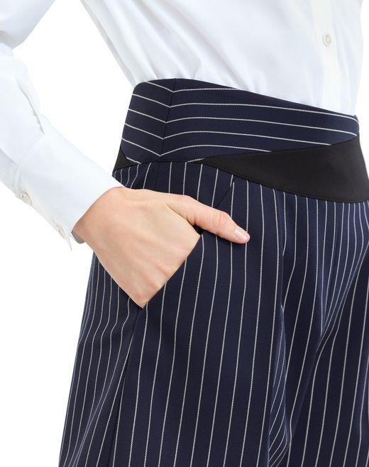 lanvin pinstripe gabardine shorts women